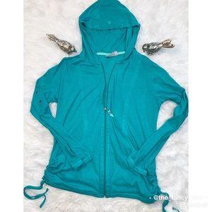 Athleta Hoodylicious Jacket in Fiji Green Heather